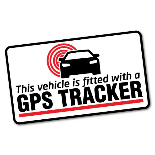 (GPS Tracker Fitted Warning Sticker Decal Safety Sign Car Vinyl)