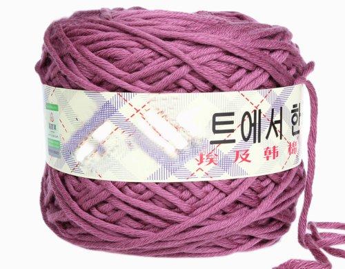 [Milk Cotton Thick Yarn 0206 knitting Yarn Scarf Yard Warm&Soft Yarn, Darkled(17)] (Free Knitting Scarf)