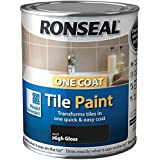 Ronseal One Coat Tile Paint Black Gloss 750ml by Ronseal