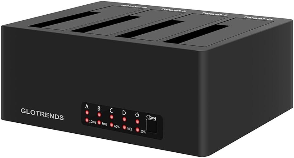 SA02002 SATA I//II//III Nero compatibile con 2 x 10TB e UASP Inateck Docking Station USB 3.0 a SATA Dual-Bay per Hard Drive con funzione clonazione offline per HDD SSD 2.5//3.5 SATA