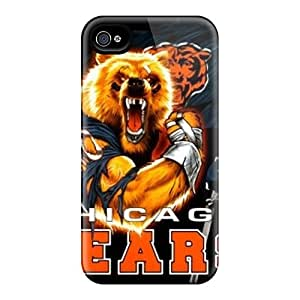 Scratch Protection Hard Cell-phone Case For Iphone 4/4s (NLK2939MNmt) Provide Private Custom HD Chicago Bears Pattern
