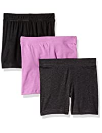 Clementine Apparel Girls Bike Shorts for Girls 3 Pack