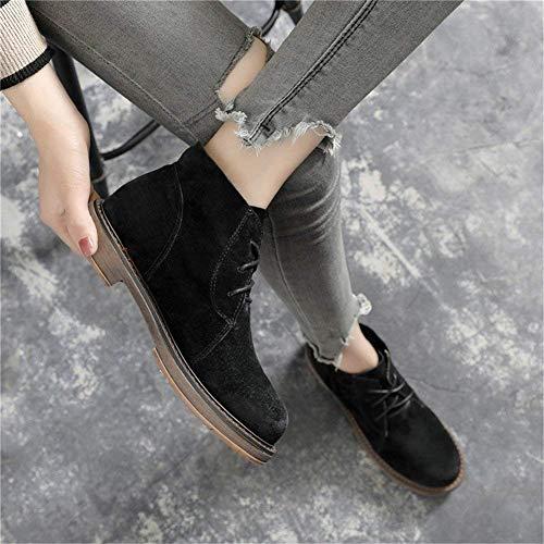 Inferior Eu De Y Plano Ocio Áspero Cortas Señoras Para 36 Botas Deed Zapatos Encaje Estudiantes Retro zqZTxwn