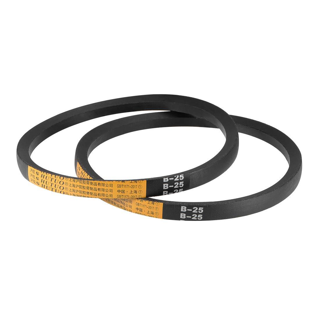 """A-Section Rubber Drive Belt 2pcs A25 V-Belts 25/"""" Pitch Length"""