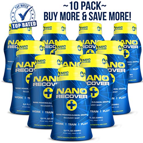 NANO RECOVER   Patented Hangover Cure, Prevention & Morning Recovery Drink   Liver Detox Supplement w/Dihydromyricetin(DHM), Milk Thistle, Electrolytes Vitamins & Minerals - Fast Alcohol ()