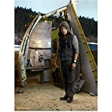 Lost Ken Leung as Miles Straume Posing in Hooded Outfit in front of Airplane Wreckage 8 x 10 inch photo