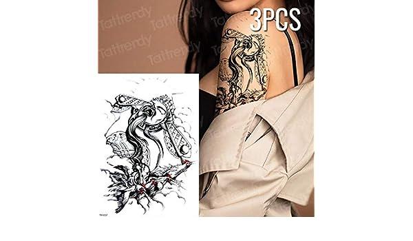 adgkitb 3 Piezas Tatuajes temporales de escorpión Tatuaje de ...