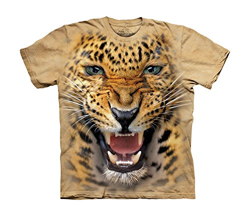 The Mountain Kids Angry Leopard T-Shirt, Medium, Sand