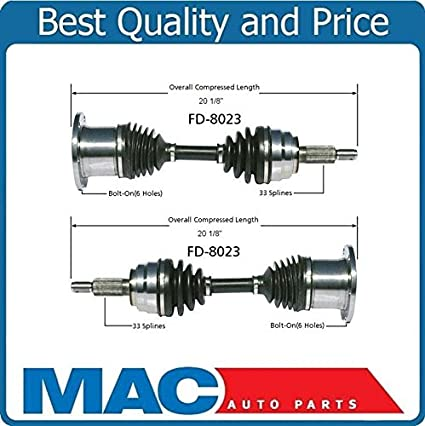 2 100 New CV Axle Shaft For 97 02 Expedition