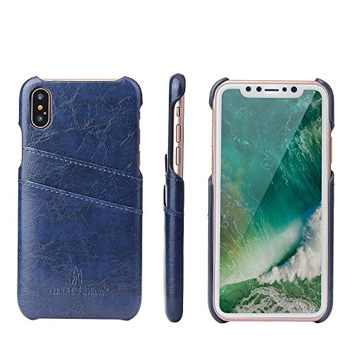 iPhone X Case, iPhone 10 Case, Luxury Classical Soft Comfortable Wallet Phone Case Leather Slim Back Case Cover, iPhone X Wallet Slim Leather Back Case With Credit Card Holder for Apple iPhone X