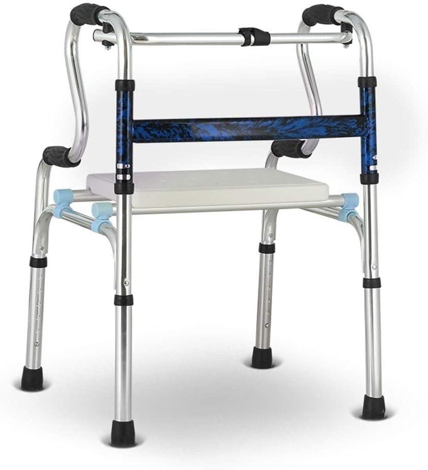 4347555031 Walker Rehabilitation Care Accesible Accesorio for niños de Edad Avanzada Entrenamiento de Miembros Inferiores Multifuncional Silla de Ruedas Ligera y Plegable