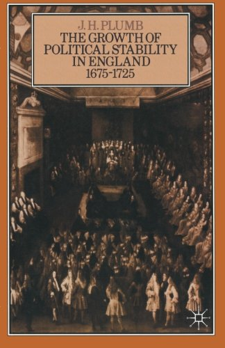 Growth of Political Stability In England 1675-1725