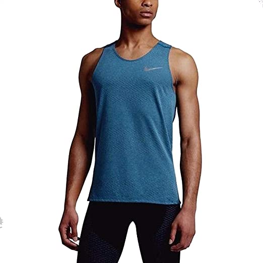 brand new f3152 eb44a Nike Men s Breathe Dri-Fit Tank Top Shirt Blue AA 4862 457 ...