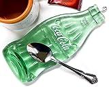 Vintage Coca Cola Bottle Spoon Rest Recycled Glass Melted Coke Soda Bottle