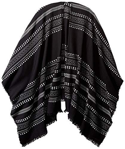 Pendleton Women's Serape Stripe Wrap, black, One Size