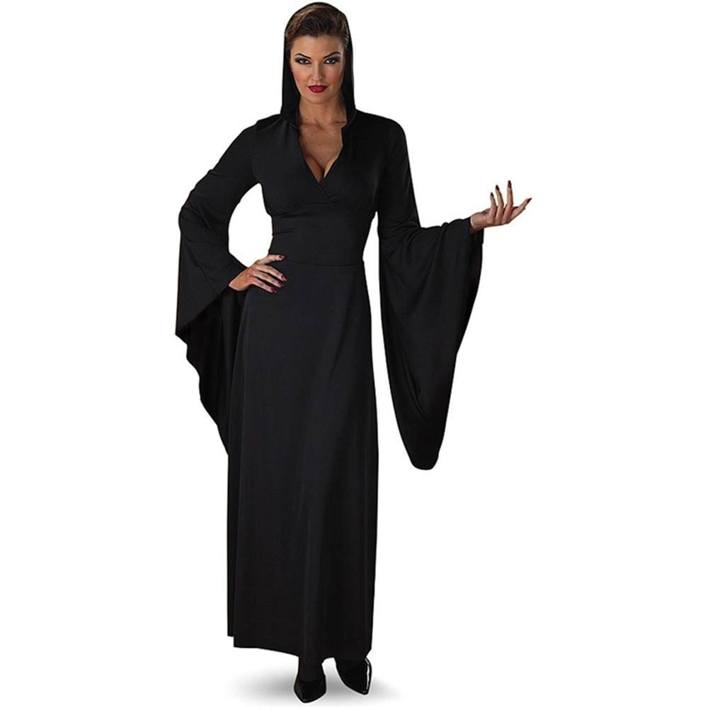 Amazon.com: Sexy negro con capucha Robe Vampiress Countess ...