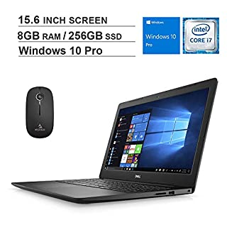 2020 Dell Premium Inspiron 3000 15.6 Inch FHD 1080P Laptop (Intel Quad-Core i7-8565U up to 4.6 GHz, 8GB DDR4 RAM, 256GB SSD, Windows 10 Pro) + NexiGo Wireless Mouse Bundle