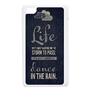 Custom Life Isn'T About Waiting For The Storm To Pass Ipod Touch 4 Cover Case, Life Isn'T About Waiting For The Storm To Pass Customized Phone Case for iPod Touch4 at Lzzcase
