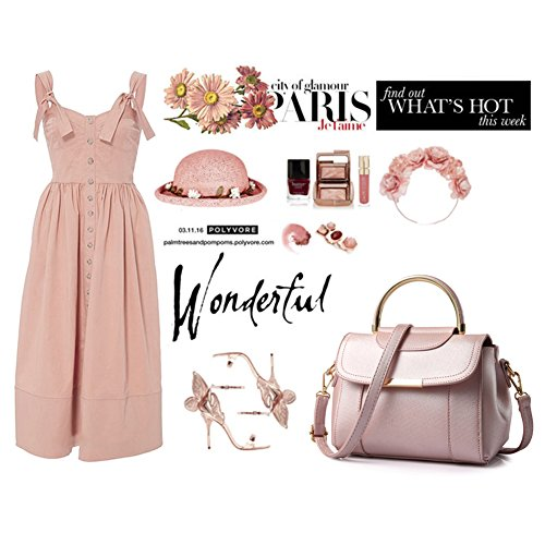 Yoome sac à main pour les filles Sacs à main en mode pour les filles sacs en soie pour femmes cuir - rose z7Q0j