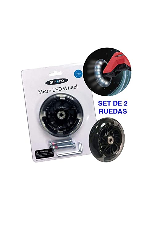 Micro - Set 2 Ruedas Iluminación LED para Patinete Micro (Maxi Micro)