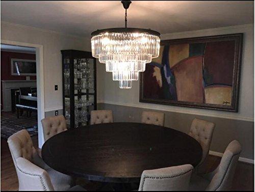 Lumos 12 Lights Luxury Modern Crystal Chandelier Pendant Ceiling Light for Dining Room, Living Room … (12 Lights) by Zgear (Image #7)