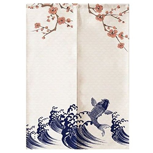 LUNA Sushi Bar Decoration Japanese Curtains Door Hallway Hanging Curtains (A17) by LUNA