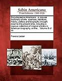 Encyclopaedia American, Francis Lieber, 1275792510