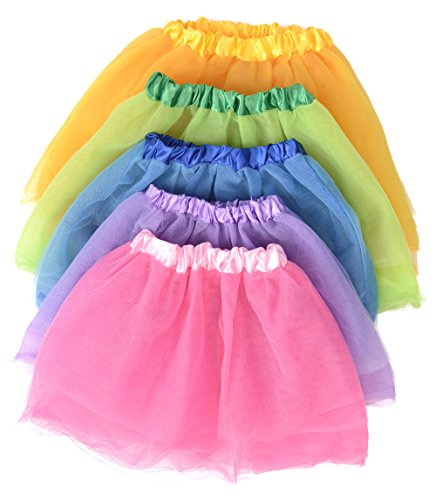Kangaroo's Princess Tutu Collection; (5-Pack) Ballet Tutus (Ballerina Princess Dress)