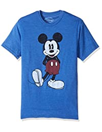 Disney Mens Full Size Mickey Mouse Distressed Look T-Shirt