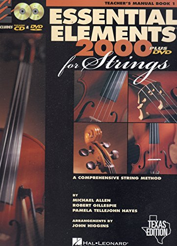 - Essential Elements 2000 Strings: Book 1 with CD-ROM (Teacher's Manual) [Spiral-bound] [2002] (Author) Hal Leonard Corp.