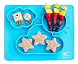 """3D Silicone Baby Feeding Placemat, Non-Slip Dishwasher-Safe 3 Compartment Toddler Plate Mat (13.5"""" x 12"""")"""