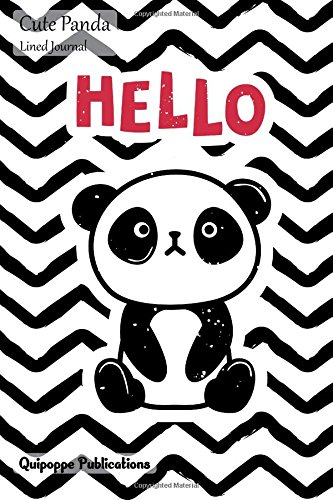 Cute Panda Lined Journal: Medium College Ruled Notebook With Panda Hello Cover PDF