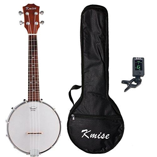Concert Ukulele Banjo Ukule 4 String Uke 23 Inch Size Ukelele Sapele With Bag Tuner