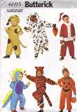 Butterick 6695 Sewing Pattern for Children's Costume Size S (1-2), M(3-4), L(5-6)