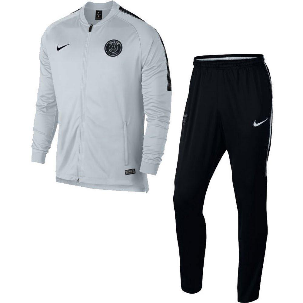 2017-2018 PSG Nike Knit Tracksuit (White) Kids B076Q234XH