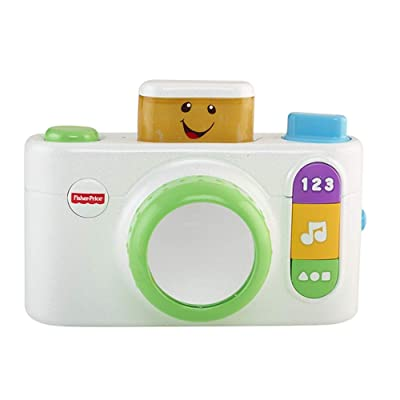 Fisher-Price Laugh & Learn Click 'n Learn Camera Toy, White: Everything Else