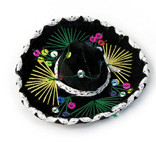 Small Velvet Mariachi Sombrero in Assorted (Mexican Sombrero)