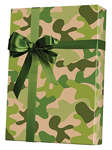 Camouflage Kraft Gift Wrap Flat Sheet - 24