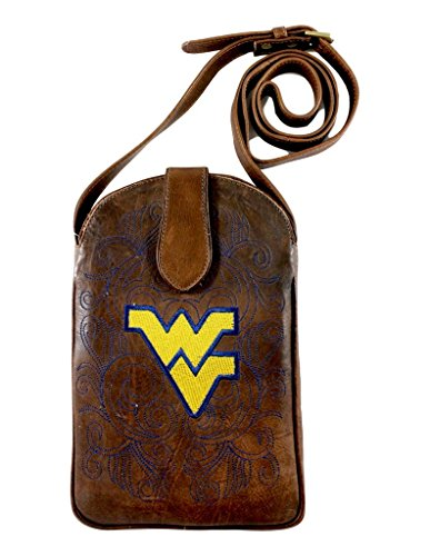 NCAA West Virginia Mountaineers Women's Cross Body Purse, Brass, One Size by Gameday Boots