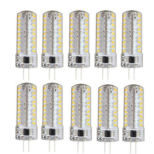 Led Capsule (G4 LED Lights Dimmable,Spevert G4 Base 5W(40W Equivalent Halogen Bulb Replacement)AC 110-130V 72Leds LED Crystal Bulb 360 Degrees Bi Pin Capsule Spotlight Warm White 2800-3200k - 10 Pack)