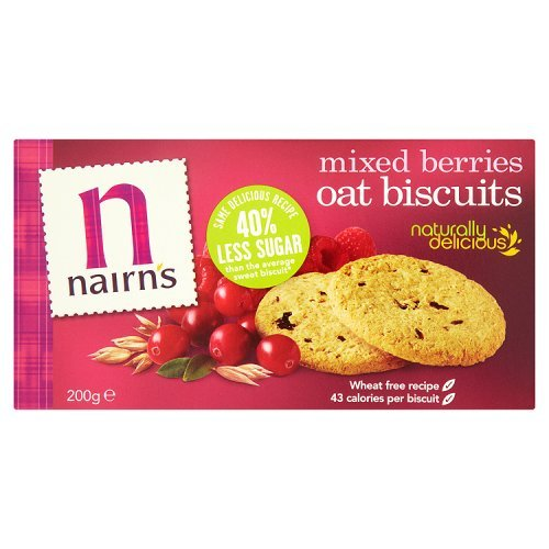 Raspberry Walnut Cake - Nairn's Oat Biscuits, Mixed Berries, 7.1 Ounce Boxes