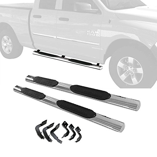 "4/"" Running Boards For 2009-2017 DODGE RAM 1500 Crew Cab S//S Nerf Bar Side Step"