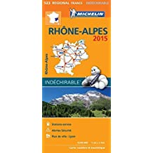 Michelin Map France Regional : Rhone-Alpes Map 523 ; tear-resistant ; 1/200 000 (French Edition) by Michelin (2015) Paperback