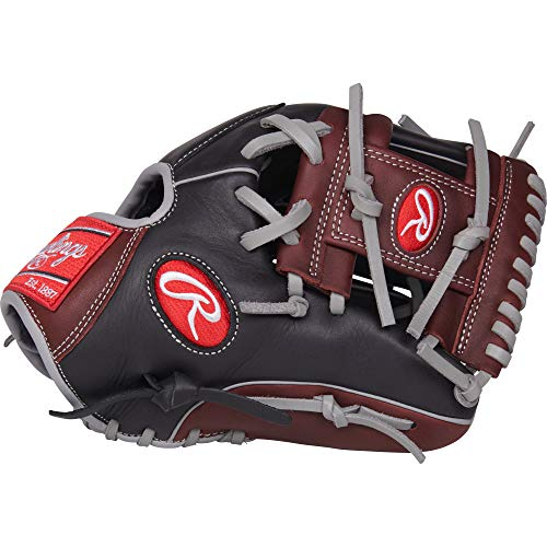 Rawlings R9 Baseball Glove, Black, 11.5