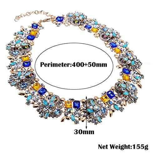 523b0352b9fce Amazon.com: Jerollin Crystal Statement Necklace, Vintage Chunky ...