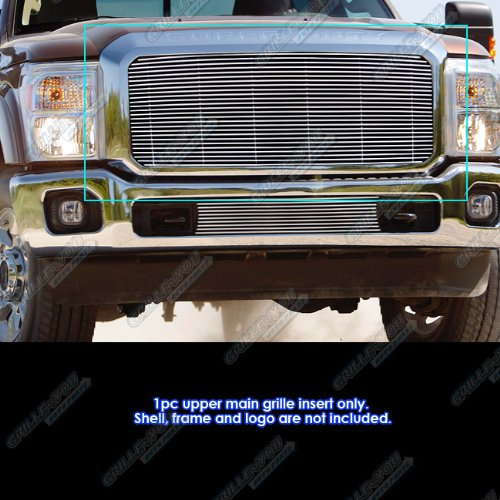 Ford F350 Billet Grille - APS Fits 2011-2016 Ford F250/F350 Super Duty Billet Grille Grill Insert #N19-A82868F