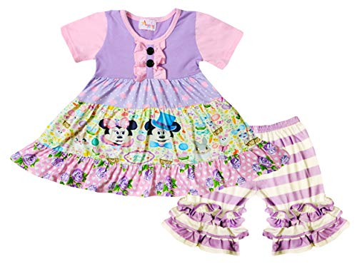 Boutique Little Girls Easter Disney Cartoon Mickey Minnie