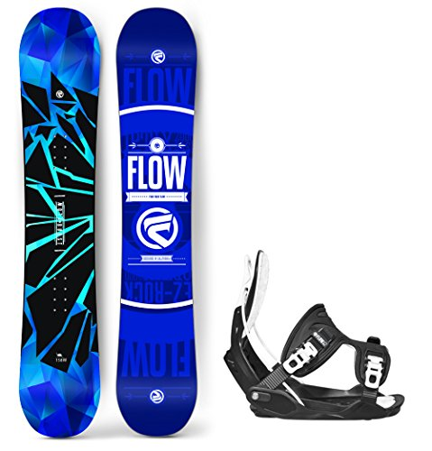 Flow 2019 Burst Men's Snowboard Alpha LTD Bindings - Board Size 154 (Large (7.5-11.5)) (Ltd Bindings)
