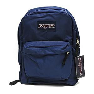 Amazon.com: Jansport Backpack Superbreak Navy Blue for School Work ...