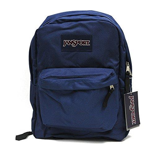 Jansport Backpack Superbreak Navy Blue for School Work or Play